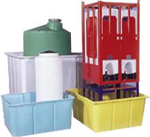Polyethylene plastic storage tanks