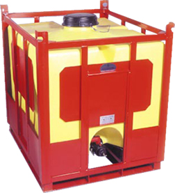 Stackeable, Low profile, Steel & Plastic IBC tote
